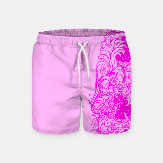 Miniatur Sleeve Pink Swim Shorts, Live Heroes
