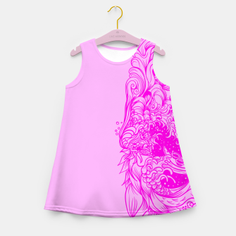 Miniaturka Sleeve Pink Girl's summer dress, Live Heroes