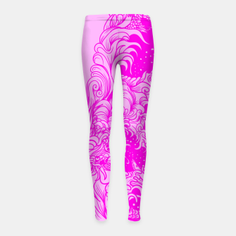 Miniatur Sleeve Pink Girl's leggings, Live Heroes