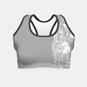 Miniatur Sleeve Grey Crop Top, Live Heroes