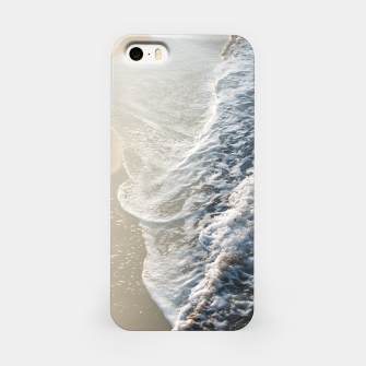 Soft Gold Blue Black Ocean Dream Waves #1 #water #decor #art iPhone-Hülle thumbnail image