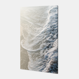 Thumbnail image of Soft Gold Blue Black Ocean Dream Waves #1 #water #decor #art Canvas, Live Heroes