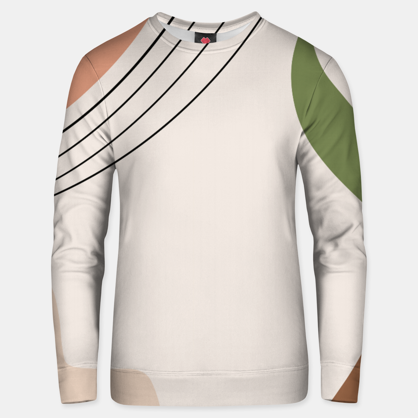 Image of Tropical Minimal Abstract #1 #wall #decor #art Unisex sweatshirt - Live Heroes