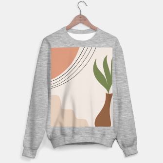 Tropical Minimal Abstract #1 #wall #decor #art Sweatshirt regulär Bild der Miniatur