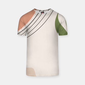 Tropical Minimal Abstract #1 #wall #decor #art T-Shirt Bild der Miniatur