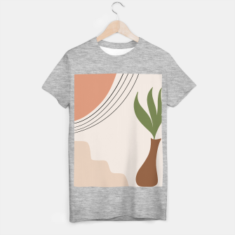 Tropical Minimal Abstract #1 #wall #decor #art T-Shirt regulär Bild der Miniatur