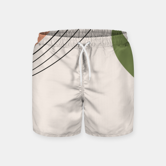 Tropical Minimal Abstract #1 #wall #decor #art Badeshorts miniature
