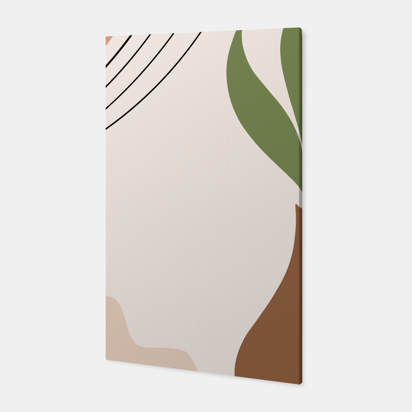 Image of Tropical Minimal Abstract #1 #wall #decor #art Canvas - Live Heroes