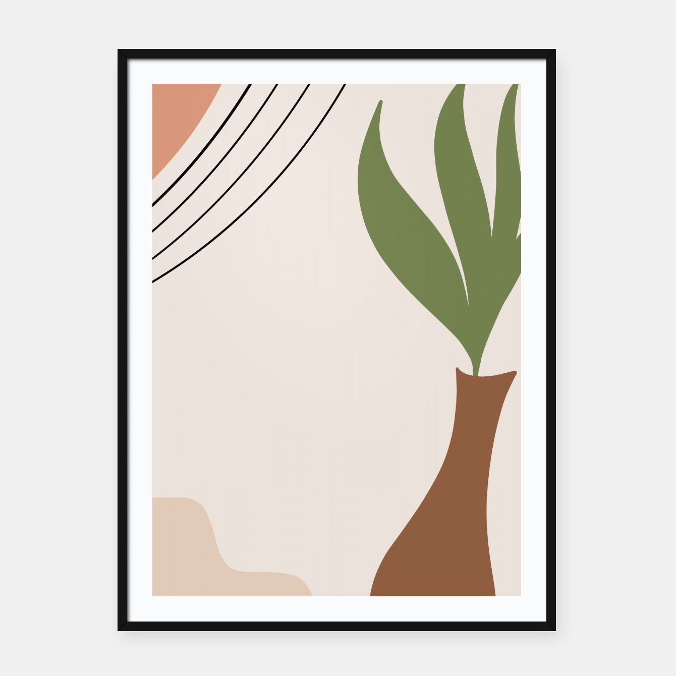 Foto Tropical Minimal Abstract #1 #wall #decor #art Plakat mit rahmen - Live Heroes