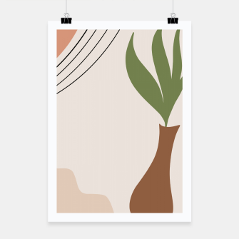 Miniatur Tropical Minimal Abstract #1 #wall #decor #art Plakat, Live Heroes