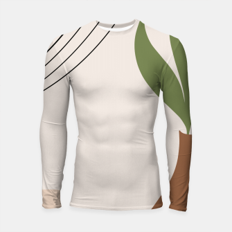 Miniatur Tropical Minimal Abstract #1 #wall #decor #art Longsleeve rashguard, Live Heroes