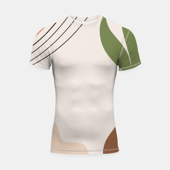 Miniaturka Tropical Minimal Abstract #1 #wall #decor #art Shortsleeve rashguard, Live Heroes