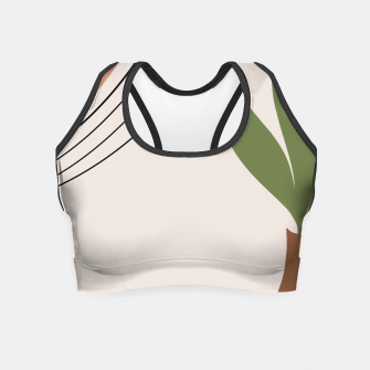Miniatur Tropical Minimal Abstract #1 #wall #decor #art Crop Top, Live Heroes