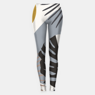 Miniatur Minimal Yin Yang Monstera Fan Palm Finesse #2 #tropical #decor #art Leggings, Live Heroes
