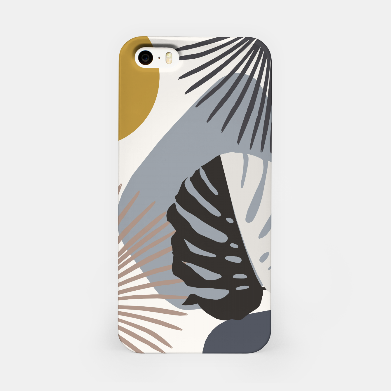 Image of Minimal Yin Yang Monstera Fan Palm Finesse #2 #tropical #decor #art iPhone-Hülle - Live Heroes