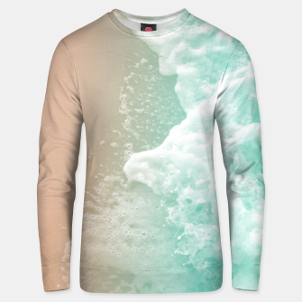 Soft Emerald Beige Ocean Beauty #1 #wall #decor #art Unisex sweatshirt obraz miniatury