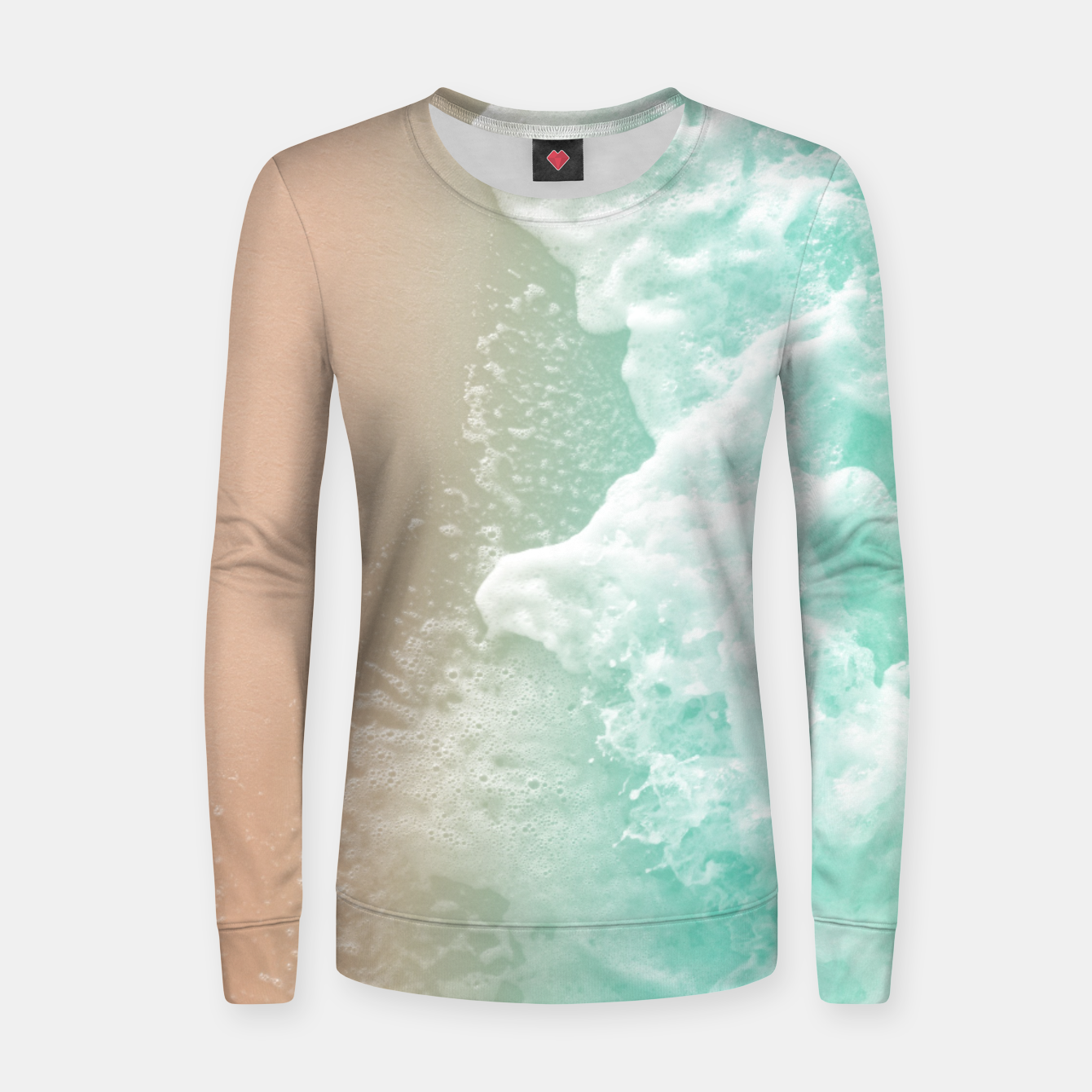 Image de Soft Emerald Beige Ocean Beauty #1 #wall #decor #art Frauen sweatshirt - Live Heroes