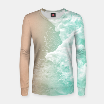 Soft Emerald Beige Ocean Beauty #1 #wall #decor #art Frauen sweatshirt Bild der Miniatur