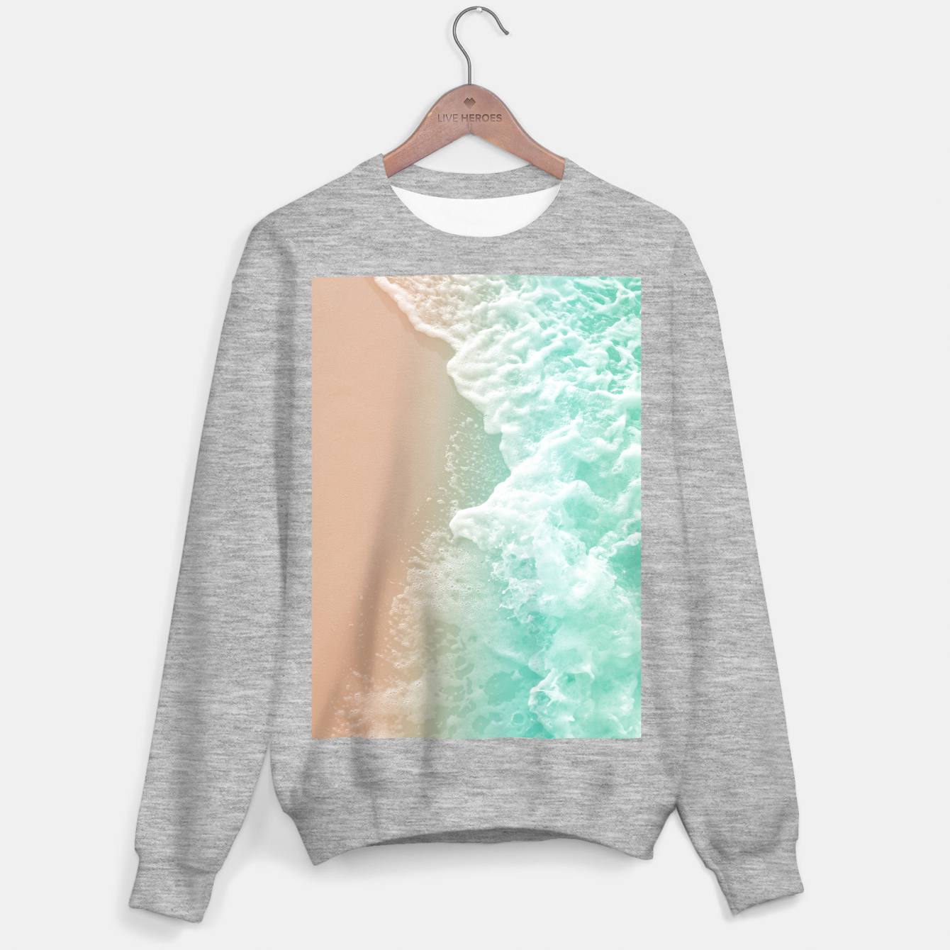 Image de Soft Emerald Beige Ocean Beauty #1 #wall #decor #art Sweatshirt regulär - Live Heroes