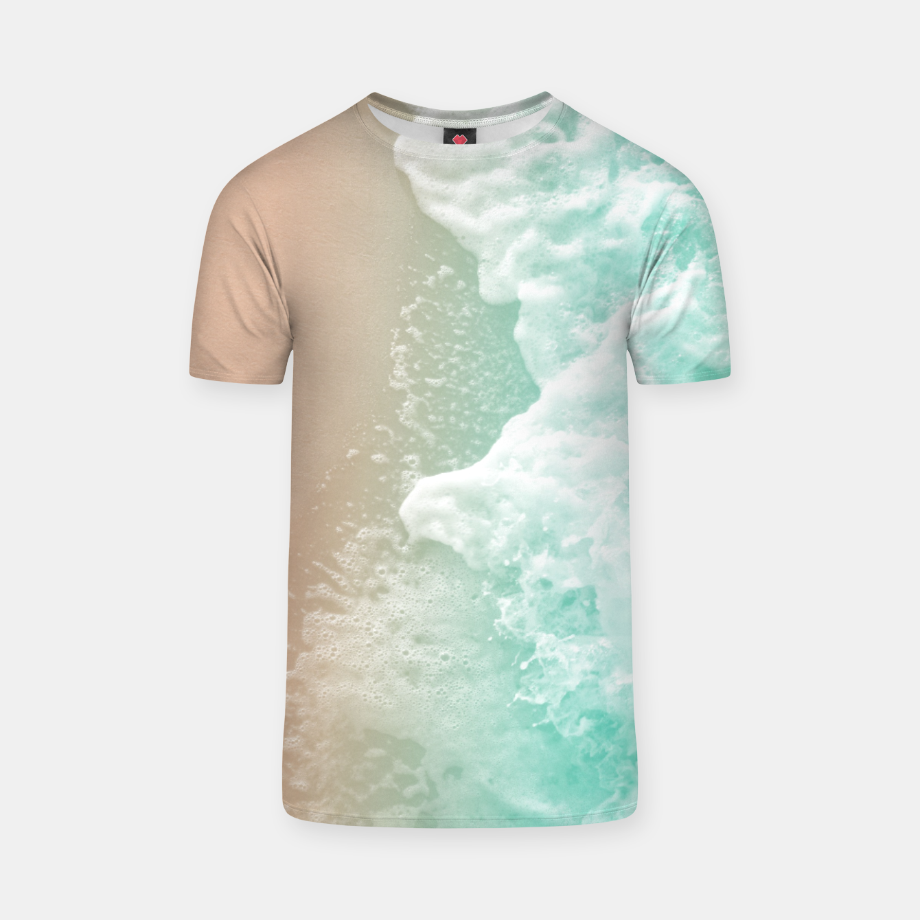 Image of Soft Emerald Beige Ocean Beauty #1 #wall #decor #art T-Shirt - Live Heroes