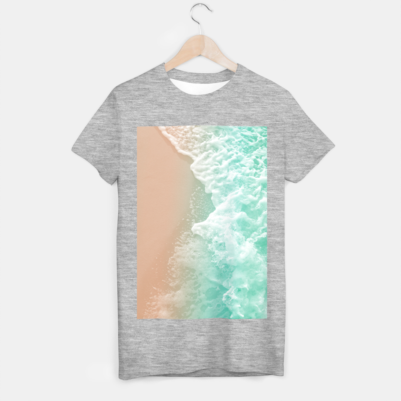 Image of Soft Emerald Beige Ocean Beauty #1 #wall #decor #art T-Shirt regulär - Live Heroes