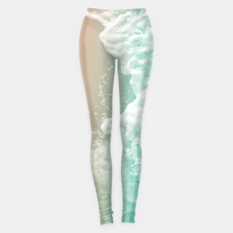 Soft Emerald Beige Ocean Beauty #1 #wall #decor #art Leggings miniature