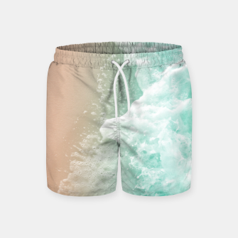 Soft Emerald Beige Ocean Beauty #1 #wall #decor #art Badeshorts thumbnail image