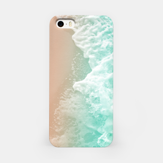 Soft Emerald Beige Ocean Beauty #1 #wall #decor #art iPhone-Hülle Bild der Miniatur