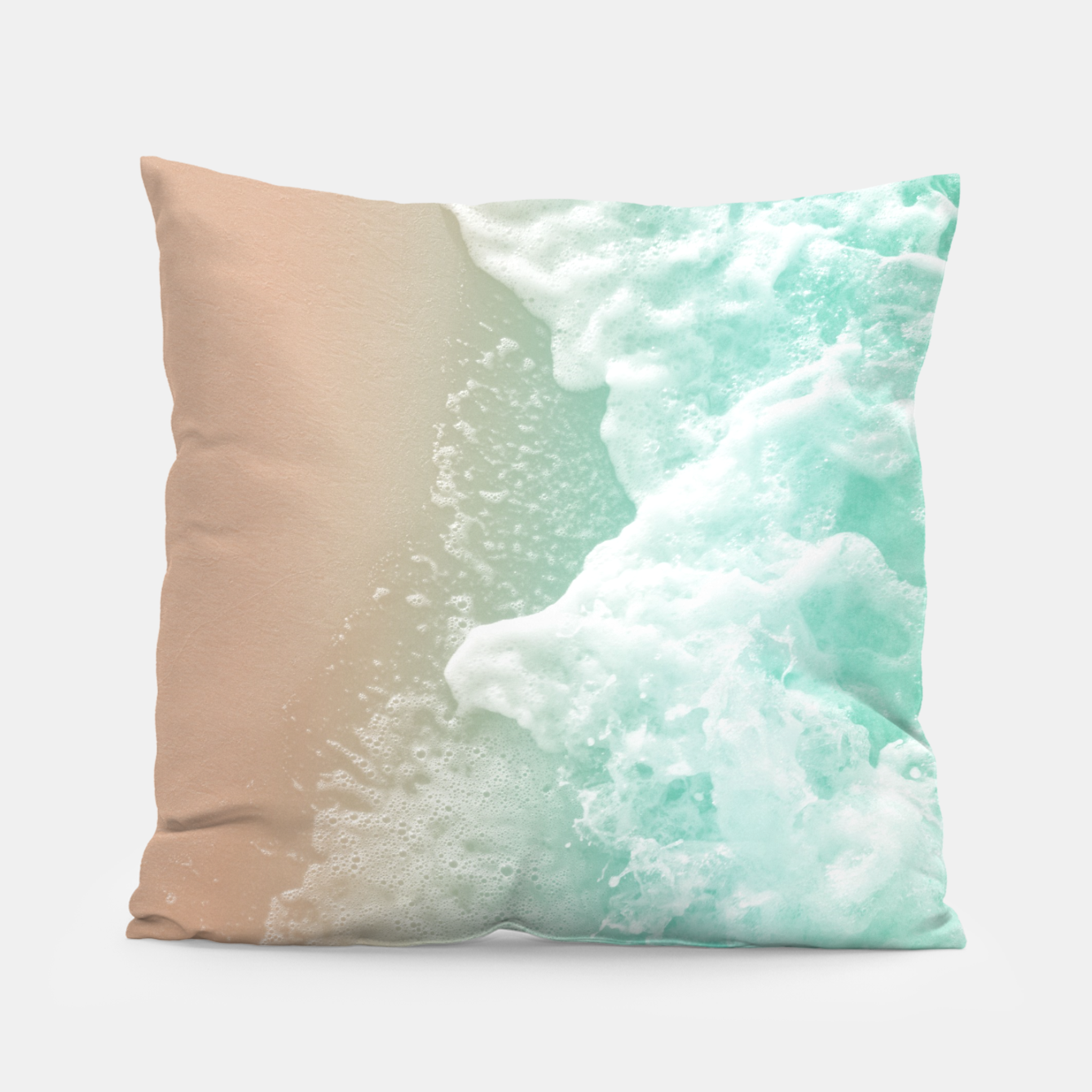 Image of Soft Emerald Beige Ocean Beauty #1 #wall #decor #art Kissen - Live Heroes