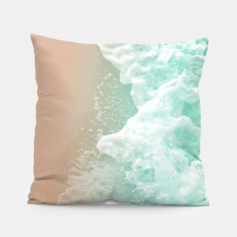 Thumbnail image of Soft Emerald Beige Ocean Beauty #1 #wall #decor #art Kissen, Live Heroes