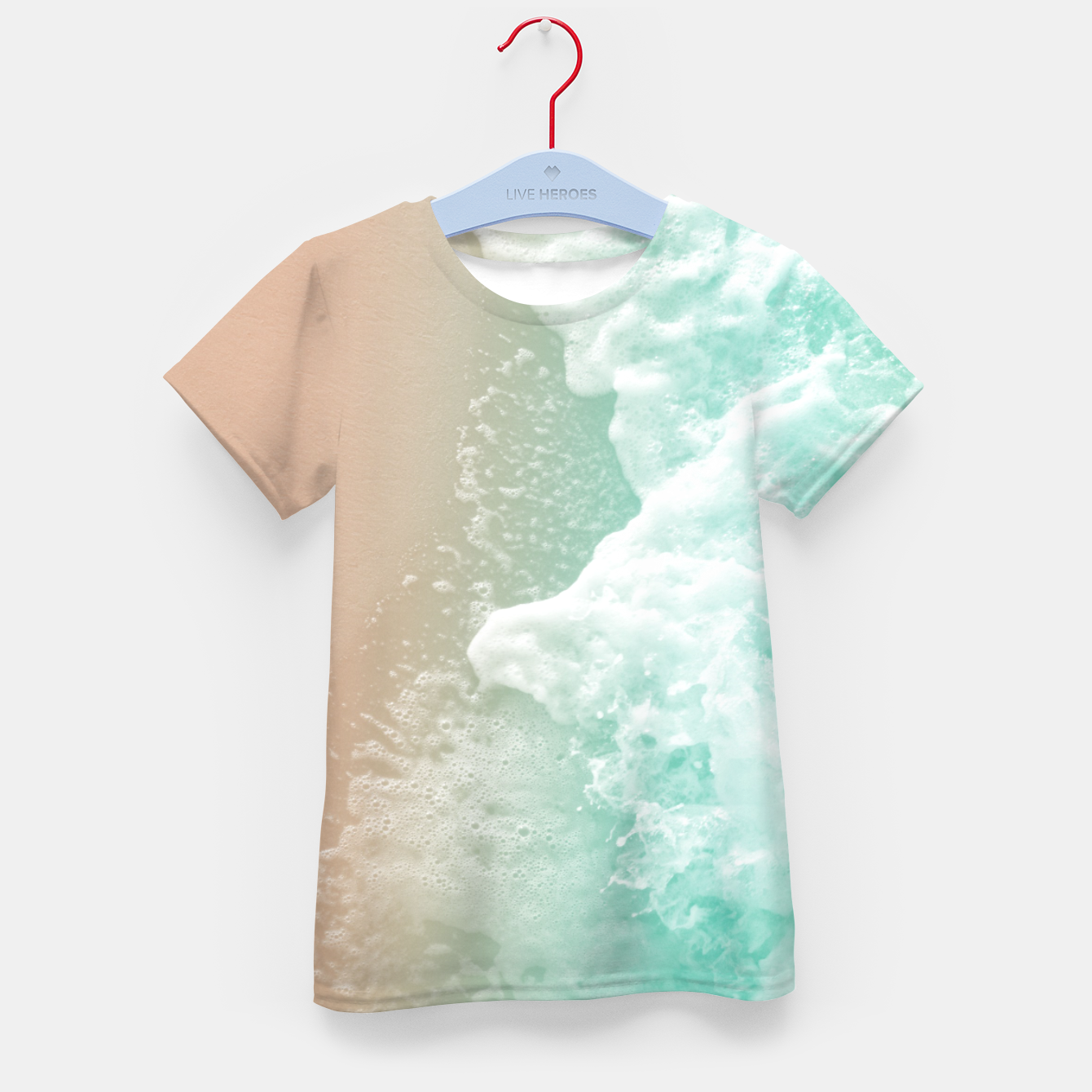 Image of Soft Emerald Beige Ocean Beauty #1 #wall #decor #art T-Shirt für kinder - Live Heroes