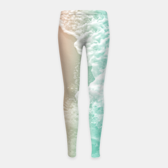 Thumbnail image of Soft Emerald Beige Ocean Beauty #1 #wall #decor #art Kinder-Leggins, Live Heroes