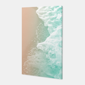 Soft Emerald Beige Ocean Beauty #1 #wall #decor #art Canvas obraz miniatury