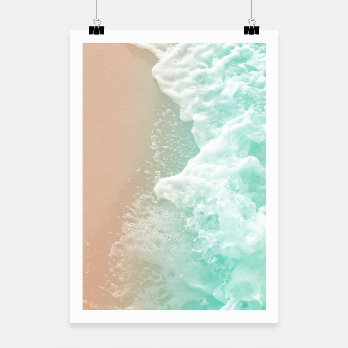 Image of Soft Emerald Beige Ocean Beauty #1 #wall #decor #art Plakat - Live Heroes