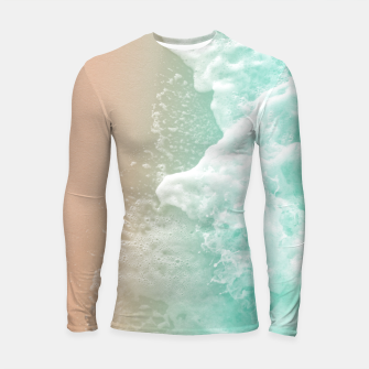 Soft Emerald Beige Ocean Beauty #1 #wall #decor #art Longsleeve rashguard Bild der Miniatur