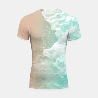 Thumbnail image of Soft Emerald Beige Ocean Beauty #1 #wall #decor #art Shortsleeve rashguard, Live Heroes