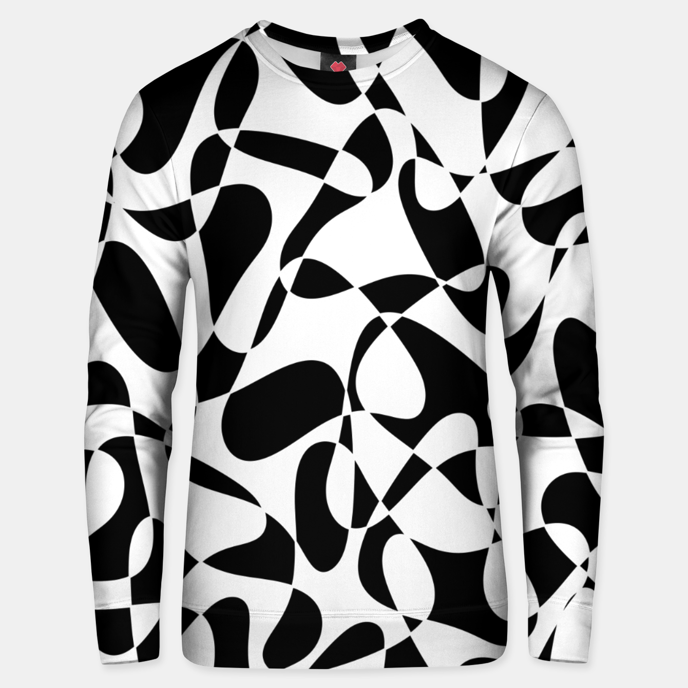 Image of Abstract pattern - black and white. Unisex sweater - Live Heroes