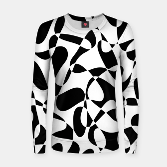 Abstract pattern - black and white. Women sweater thumbnail image