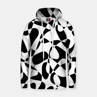 Abstract pattern - black and white. Hoodie thumbnail image