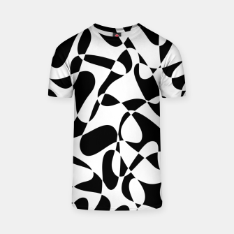 Abstract pattern - black and white. T-shirt thumbnail image