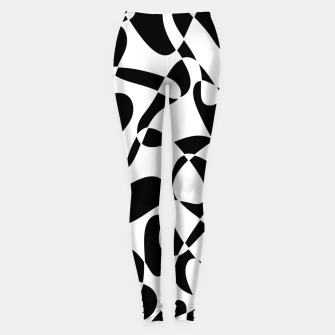 Abstract pattern - black and white. Leggings thumbnail image