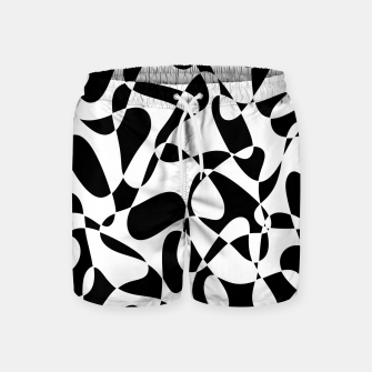 Abstract pattern - black and white. Swim Shorts thumbnail image