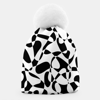 Abstract pattern - black and white. Beanie thumbnail image