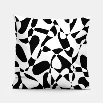 Abstract pattern - black and white. Pillow thumbnail image