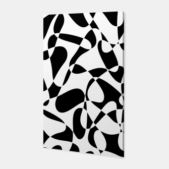 Abstract pattern - black and white. Canvas thumbnail image