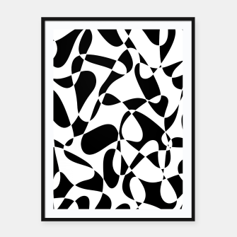 Abstract pattern - black and white. Framed poster thumbnail image