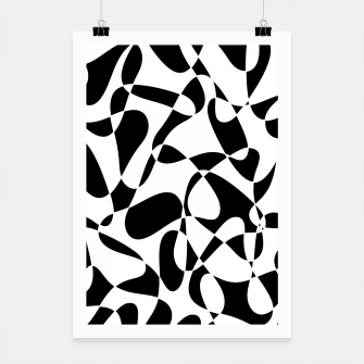 Abstract pattern - black and white. Poster thumbnail image