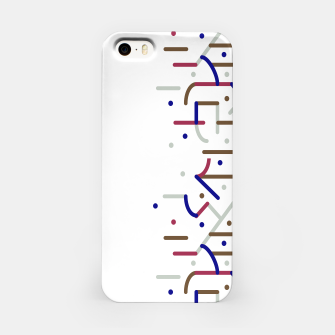 Lines and Dots Motif Geometric Print iPhone Case thumbnail image