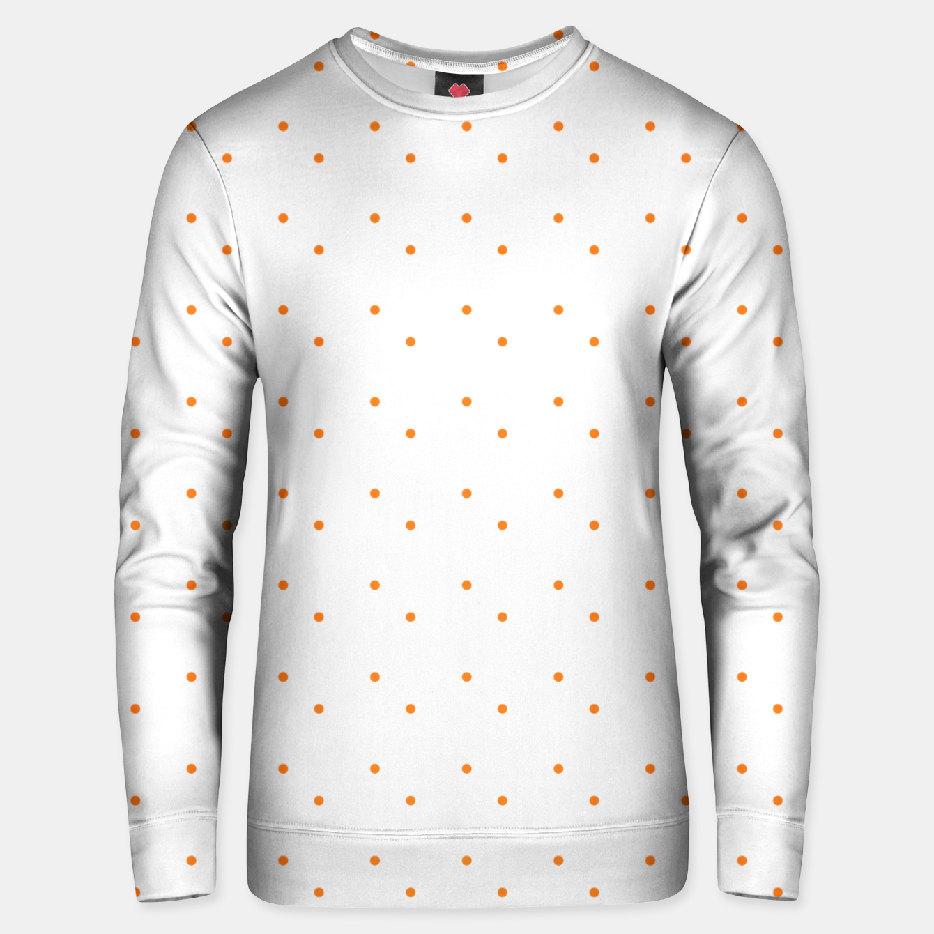 Image of cute orange dots pattern Unisex sweater - Live Heroes