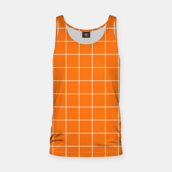 Thumbnail image of Vibrant grid on orange Tank Top, Live Heroes